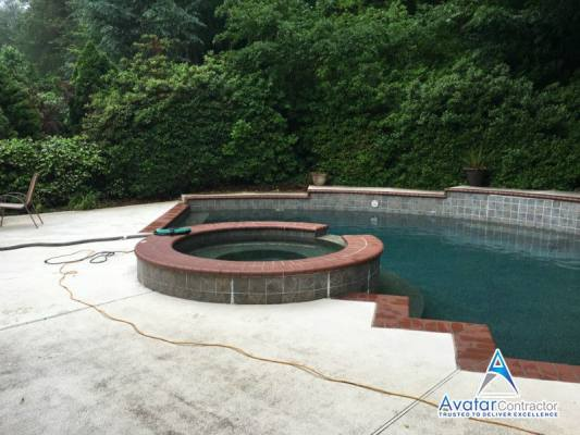 pool coping Roswell